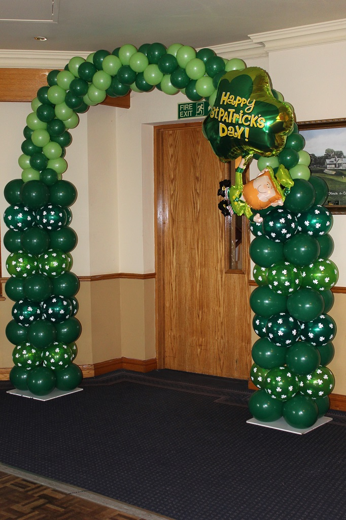 Funky Muppet Balloon Decorators - St Patrick Arch